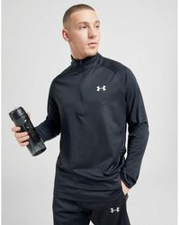 Under Armour Tech Grid 1/2 Zip Track Top - Black