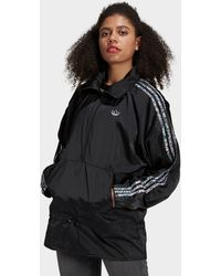 adidas Originals Half-zip Windbreaker - Black