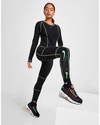 Nike Swoosh High Waisted Leggings - Black