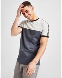 11 Degrees Colour Block Tape T-shirt - Grey