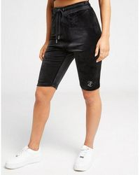 Juicy Couture - Diamante Velour Cycle Shorts - Lyst