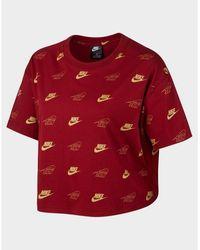 Nike Sportswear Short-sleeve Crop Top (plus Size) - Red