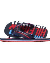 6bd81b6fbcae9 Tommy Hilfiger Beach Slides in Blue for Men - Lyst