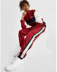 Perry Ellis Tape Color Block Track Pants - Red