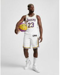 Nike Nba Los Angeles Lakers Swingman Shorts - Multicolour