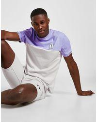 11 Degrees Colour Block Tape T-shirt - Purple