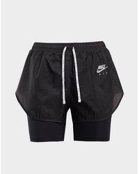 Nike Running Air 2 In 1 Shorts - Black