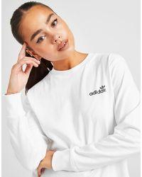 adidas Originals Linear Glossy Long Sleeve T-shirt - White