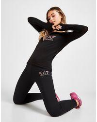 EA7 Small Logo Leggings - Black