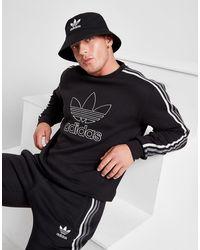adidas Originals Tri-tonal 3-stripes Crew Sweatshirt - Black