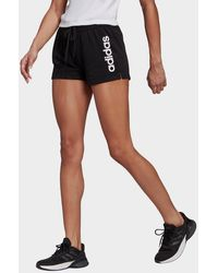 adidas Essentials Slim Logo Shorts - Black