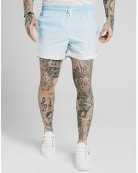SIKSILK Fade Swim Shorts - Blue
