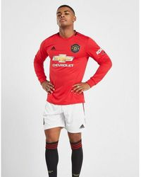 adidas Manchester United Fc 19/20 Home Shorts - Red