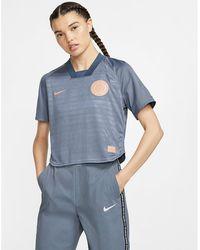 Nike F.c. Dri-fit Short-sleeve Football Top - Blue