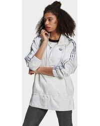 adidas Originals Half-zip Windbreaker - White