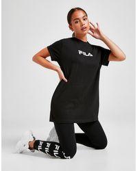 Fila Embossed Logo Boyfriend T-shirt - Black