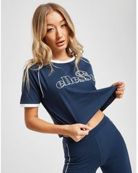 26111c56 Piping Crop T-shirt - Blue