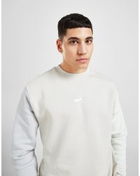 Nike Colour Block Crew Sweatshirt - White