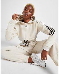 adidas 3-stripes Micro Crop Hoodie - Multicolor