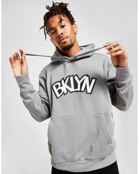 Nike Nba Brooklyn Nets Statement Hoodiehoodie - Grey