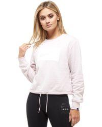 Nike - Swoosh Box Cropped Crew Sweatshirt - Lyst