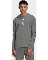 adidas Real Madrid Seasonal Specials Long-sleeve Top - Gray