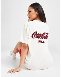 Fila X Coca-cola Back Logo Baseball Top - White