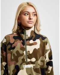 PUMA - All Over Camo Polar Fleece 1/4 Zip Sweatshirt - Lyst