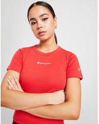 Champion Small Logo Slim Crop T-shirt - Red