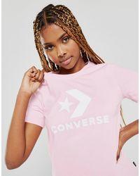 Converse Core Chevron T-shirt - Pink
