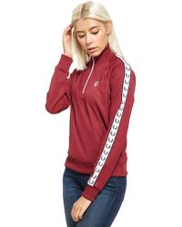 Fred Perry - Tape 1/2 Zip Track Top - Lyst