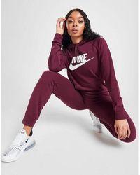 Nike Essential Logo Overhead Hoodie - Purple