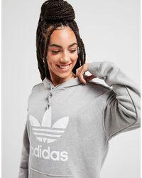 adidas Originals Trefoil Overhead Hoodie - Gray