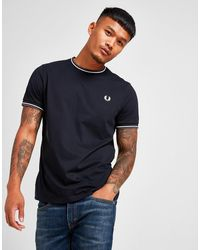 Fred Perry Black Twin Tipped Crew Neck T-shirt