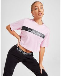 Calvin Klein Tape Crop T-shirt - Pink