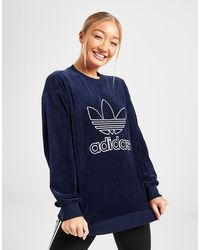 adidas - Adicolour Velvet Crew Sweatshirt - Lyst