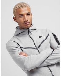 Nike Tech Fleece Full Zip Hoodie - Grey