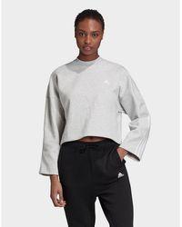 adidas Originals 3-stripes Doubleknit Sweatshirt - Grey