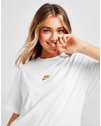 Nike Metallic Futura Boyfriend T-shirt - White