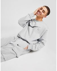 Nike Zig Zag Swoosh Crew Sweatshirt - Grey