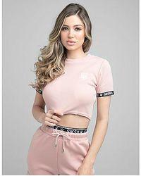 SIKSILK T-Shirt Crop Rib Tape Femme - Multicolore