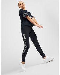 EA7 Logo Leggings - Black