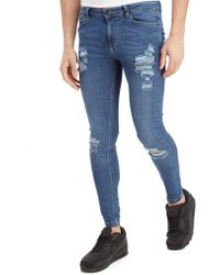 11 Degrees - Ripped Denim Jeans - Lyst