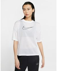 Nike Sportswear Mesh Short-sleeve Top - White
