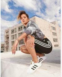 adidas Originals 3-stripes High Waisted Cycle Shorts - Black