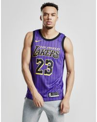 Nike - Nba Los Angeles Lakers James #23 City Jersey - Lyst