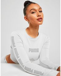 PUMA Evoknit Seamless Long Sleeve Crop T-shirt - Grey