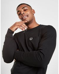 Fred Perry Core Pocket Long Sleeve T-shirt - Black