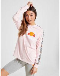 Camiseta Boyfriend Long Tape Mujer Sleeve Rosa ZiOXkPu