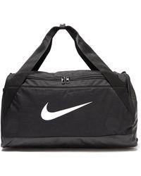 Nike - Brasilia Small Duffel Bag (black/black/white) Duffel Bags - Lyst